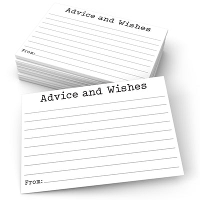 Advice and Wishes Cards - Typewriter, White