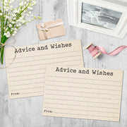 Advice and Wishes Cards - Typewriter, Tan