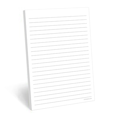 Lined Notepad, Wide-Ruled - 5.5x8.5 - Plain