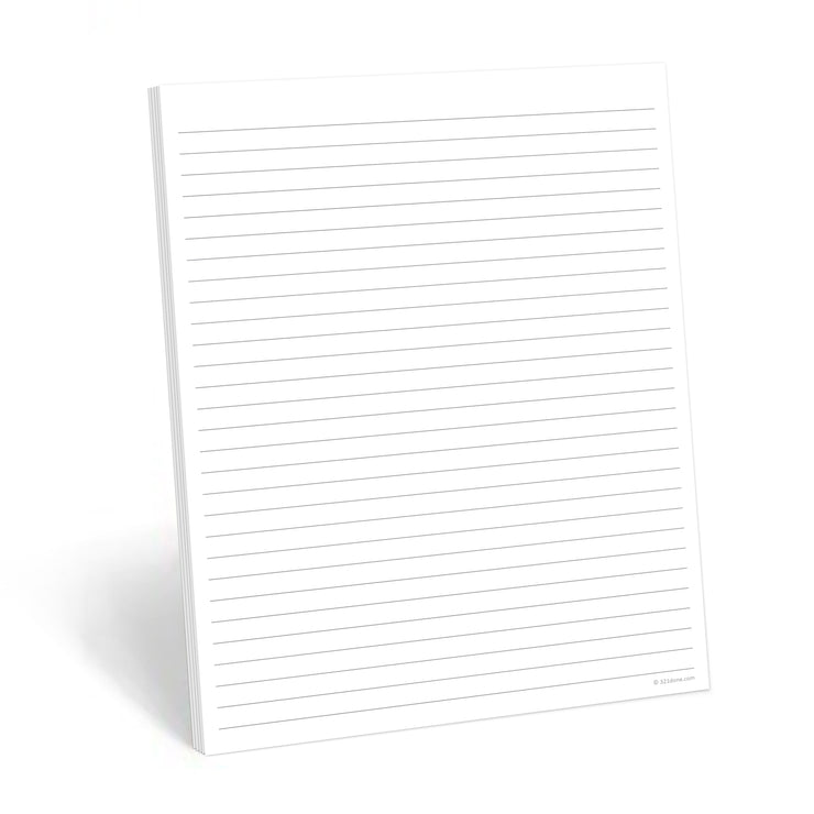 Lined Notepad, Wide-Ruled - 8.5x11 - Plain