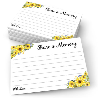 Share a Memory - Sunflower, White