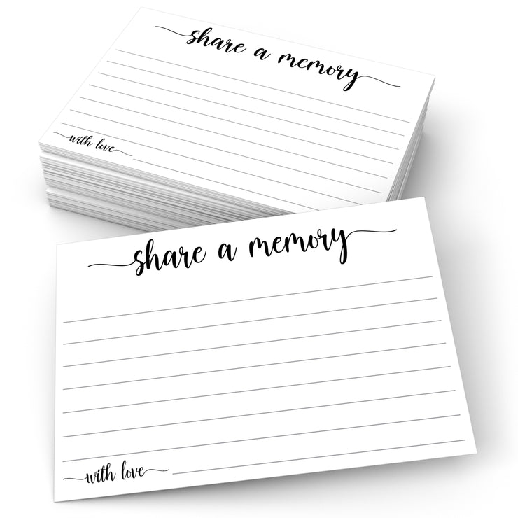 Share a Memory - Simple Script, White