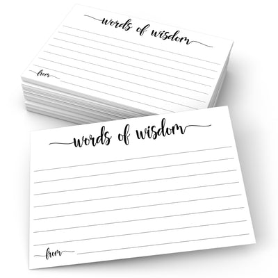 Words of Wisdom - Simple Script, White