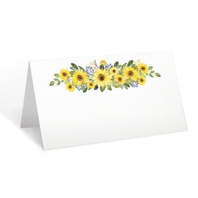 Blank Place Cards - 3.5x2 - Sunflower, White