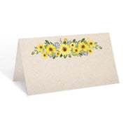 Blank Place Cards - 3.5x2 - Sunflower, Tan