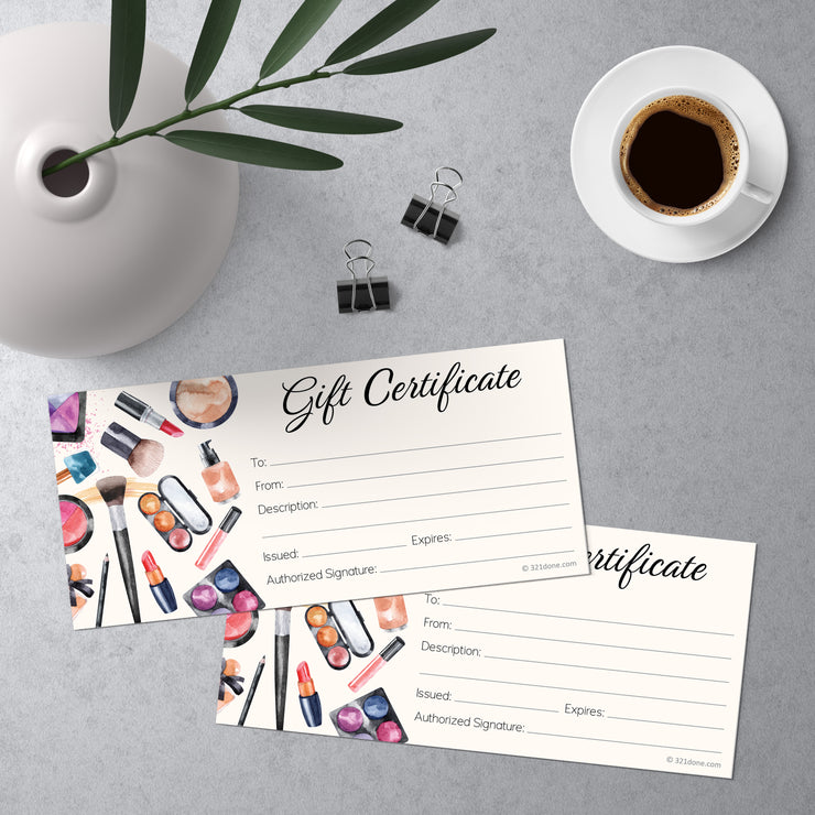 Gift Certificates  - Makeup Beauty
