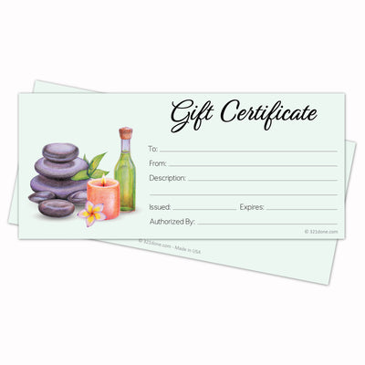 Gift Certificates  - Spa Green