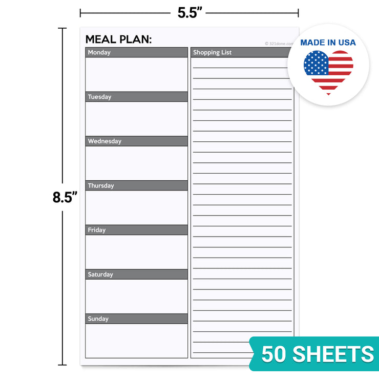 Meal Planning Notepad