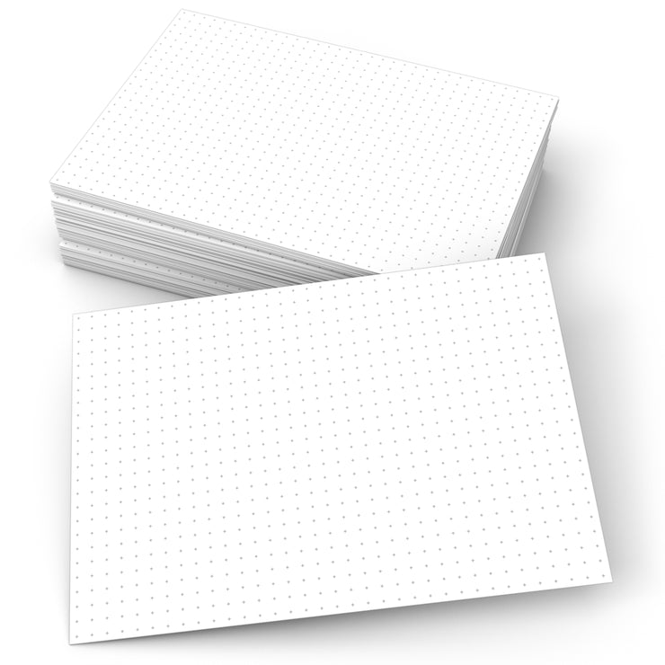 Dot Cross Grid Index Cards 0.20 - 5x7 - Plain