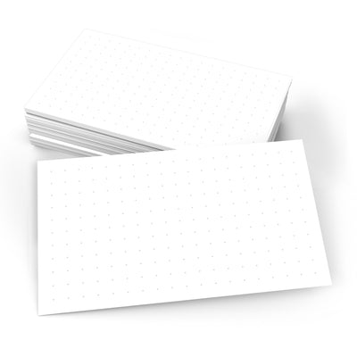 Dot Grid Index Cards 0.25 - 3x5 - Plain