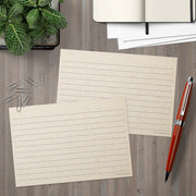 Ruled Index Cards - 4x6 - Tan