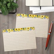 Ruled Index Cards - 4x6 - Sunflower, Tan