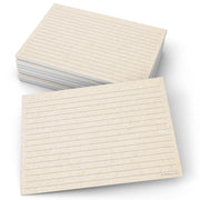 Ruled Index Cards - 5x7 - Tan