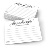 Advice and Wishes for the New Mr and Mrs - Modern Scribble, White