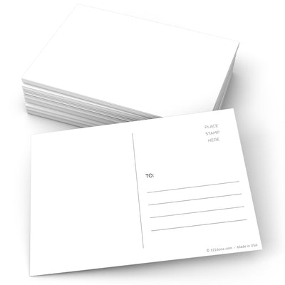 Blank Postcards - 4x6 - White