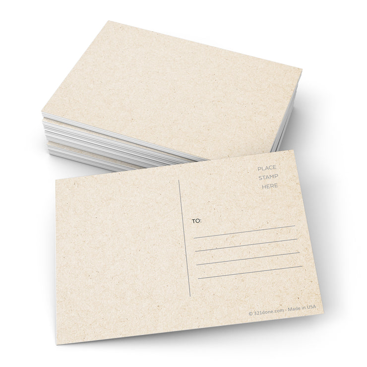Blank Postcards - 3.5x5 - Tan