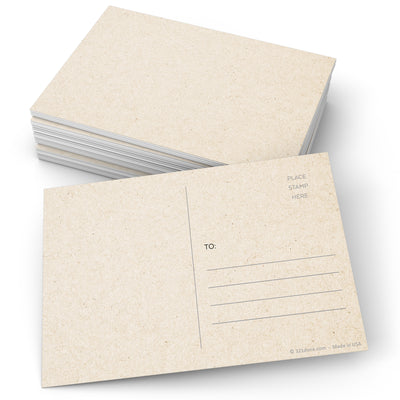 Blank Postcards - 4x6 - Tan