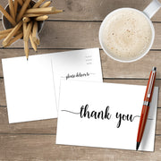 Thank You Note Cards - 4x6 - Simple Script, White