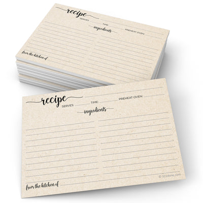 Tan Recipe Cards