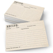 Recipe Cards - 4x6 - Typewriter, Tan