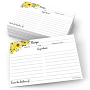 Recipe Cards - Sunflower, White