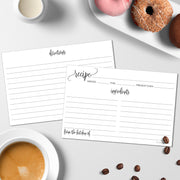 Recipe Cards - Modern Scribble, White