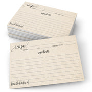 Recipe Cards - Modern Scribble, Tan
