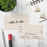 Enter to Win - Hosting Party, Tan