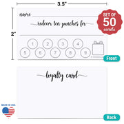 Loyalty Punch Card - White