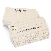 Loyalty Punch Card - Tan