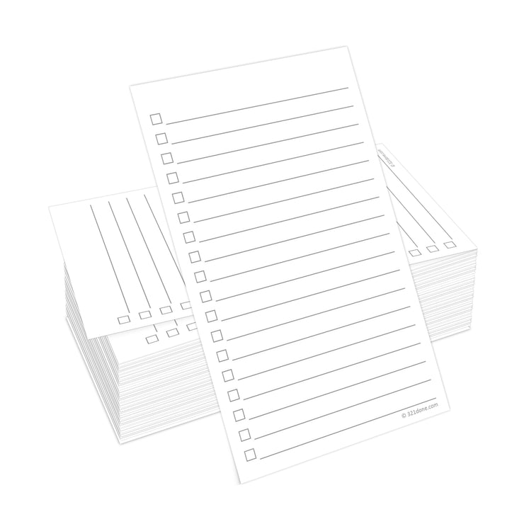 To Do Checklist Cards - 3x5 - Plain