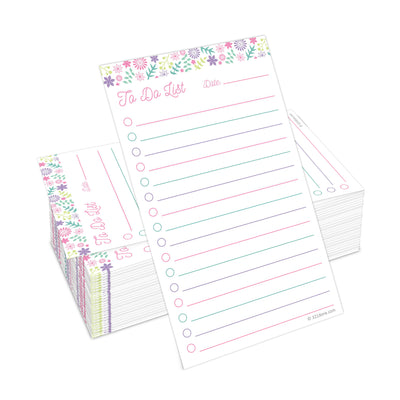 To Do Checklist Cards - 3x5 - Floral Collage