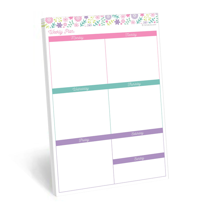 Weekly Boxes Notepad