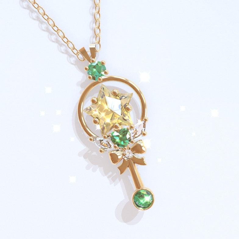 PRE-ORDER Prism Wand Pendant (Green)