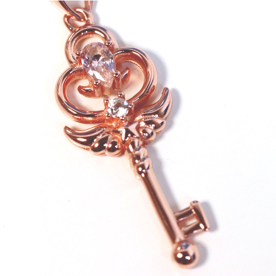 Stella Key Necklace (Rose Gold)