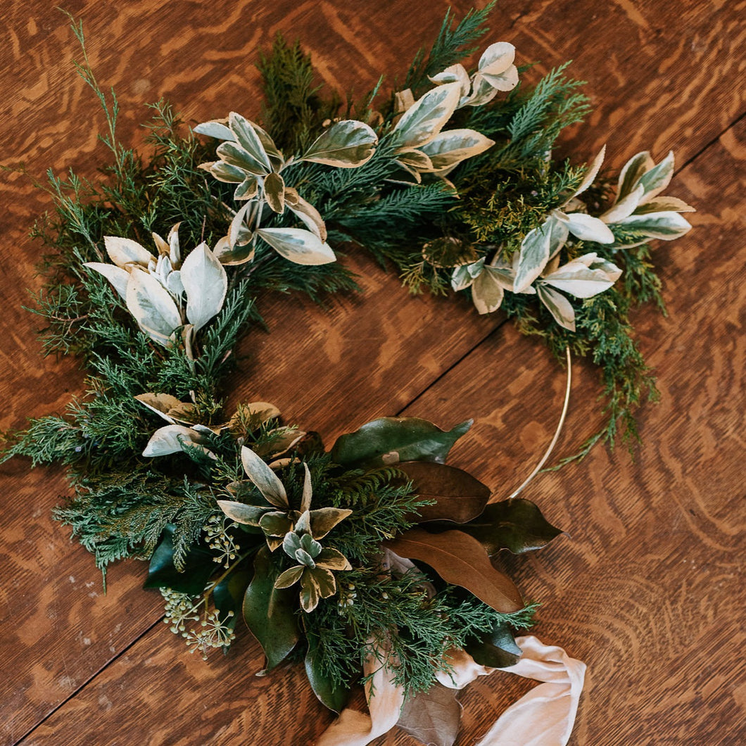November Materials - Designing an Asymmetrical Wreath