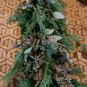 Fresh evergreen garland