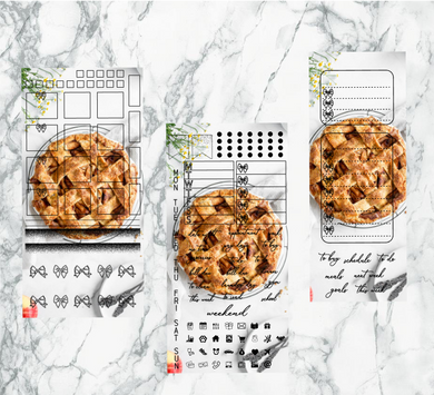 Snow apple pie hobonichi kit | Foil Planner Stickers