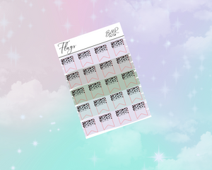 PP weeks add on | Foil Planner Stickers| EC Planner Stickers