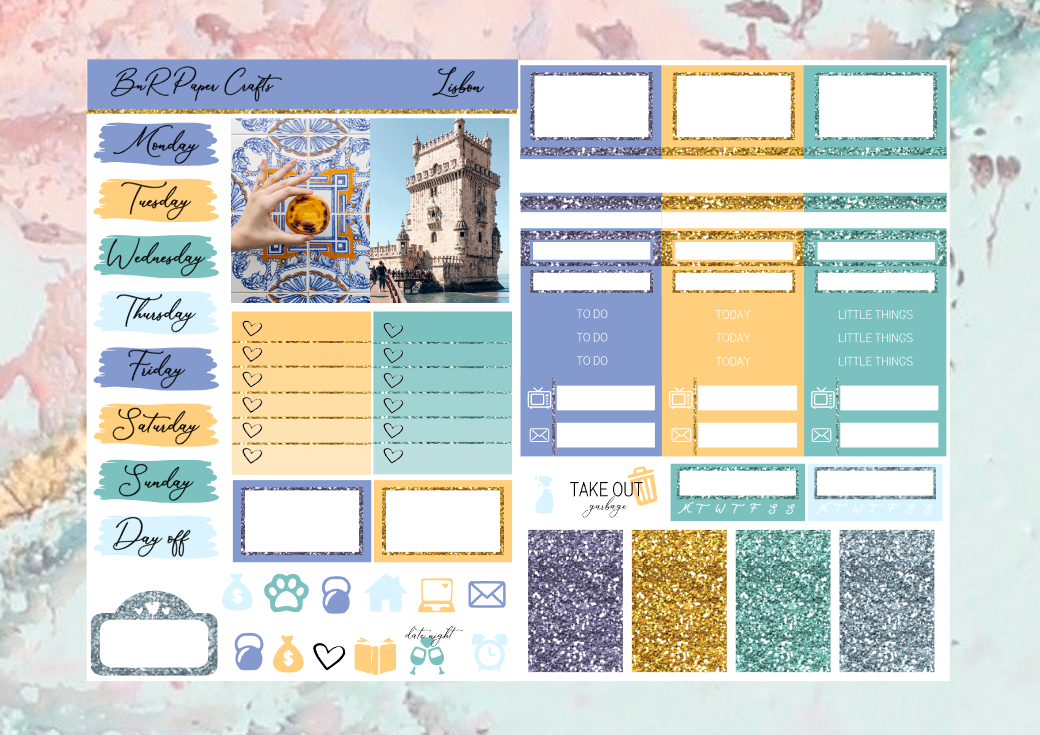 Lisbon Micro kit | EC Planner Stickers