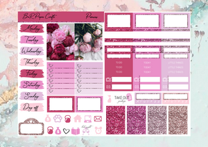 Peonies Micro kit | EC Planner Stickers