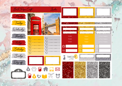 London Micro kit | EC Planner Stickers