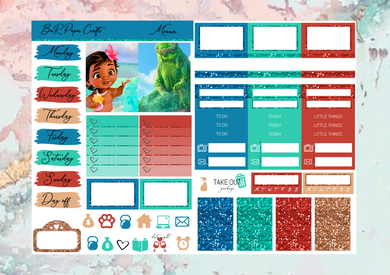 Moana movie Micro kit | EC Planner Stickers