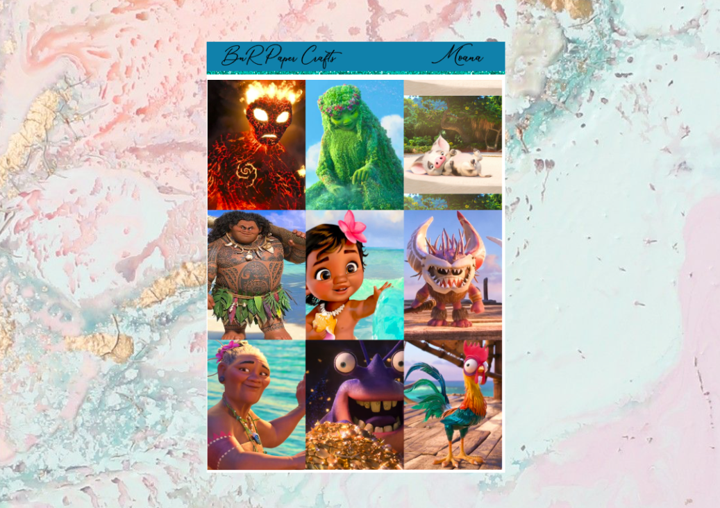 Moana movie Deluxe kit | EC Planner Stickers
