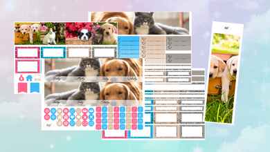 Pet Lover Monthly kit | EC Planner Stickers