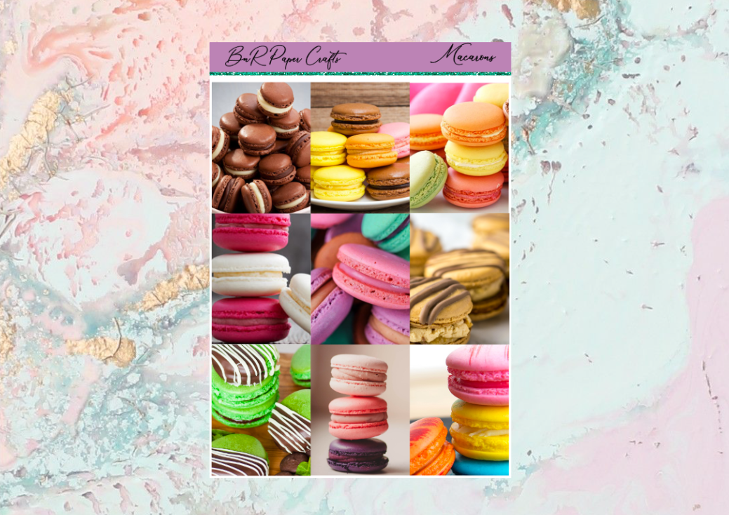 Macarons FULL BOXES only | Standard Vertical Planner Stickers