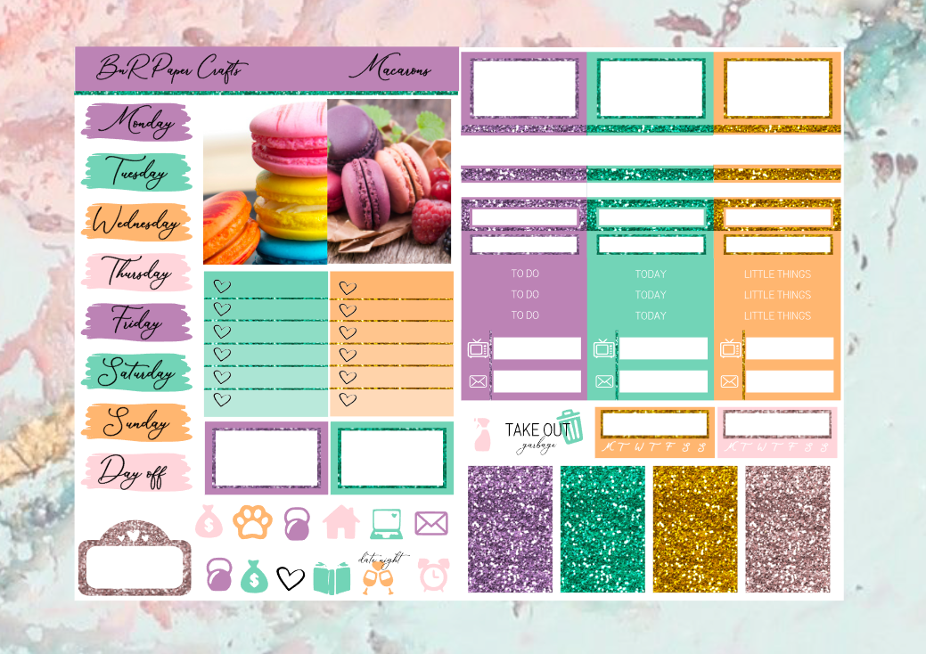 Macarons Micro kit | EC Planner Stickers