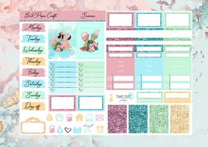 Summer Micro kit | EC Planner Stickers