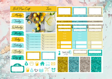 Lemonade Micro kit | EC Planner Stickers