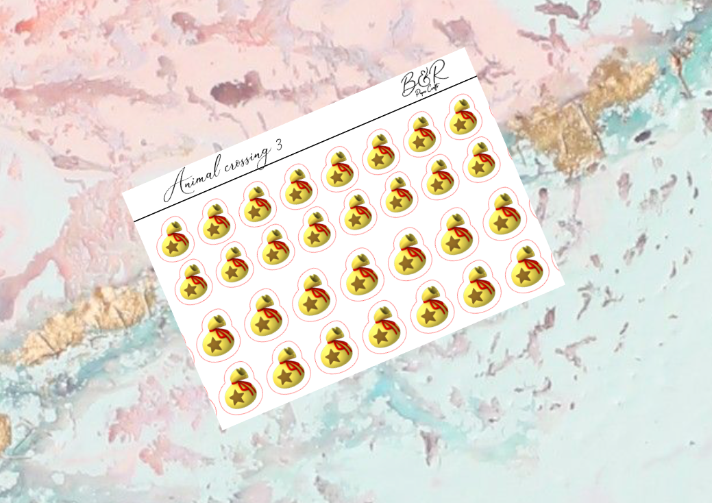 Animal crossing 3 | Foil Planner Stickers | Standard Vertical Planner Stickers
